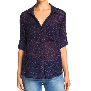 Bella Dahl Ditsy Star Print Button-Down Shirt